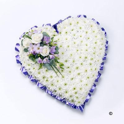 Classic Heart (Purple and White)