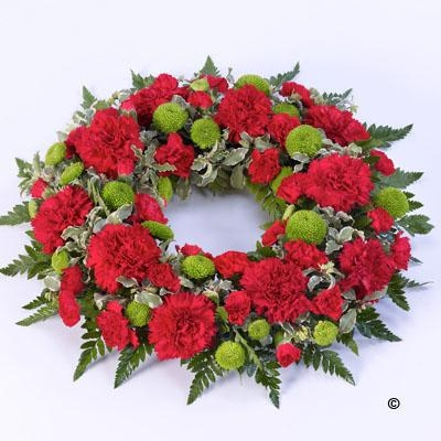 Mixed Wreath Red and Green