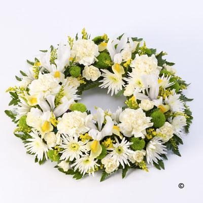 Mixed Wreath Yellow and Cream